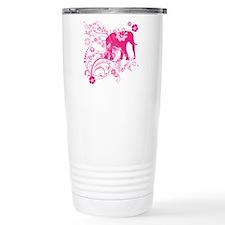 Elephant Swirls Pink Travel Mug