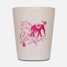 Elephant Swirls Pink Shot Glass