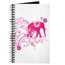 Elephant Swirls Pink Journal