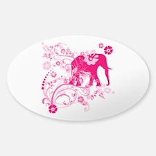Elephant Swirls Pink Decal