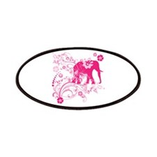 Elephant Swirls Pink Patches