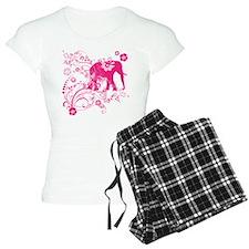 Elephant Swirls Pink Pajamas