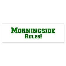 Morningside Rules! Bumper Car Sticker