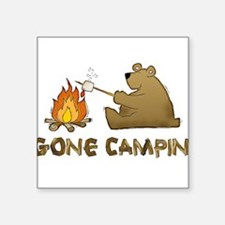 Gone Campin' Rectangle Sticker
