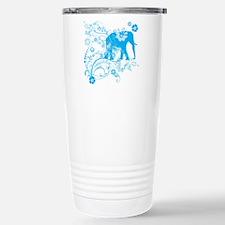 Elephant Swirls Blue Travel Mug