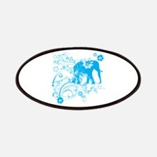 Elephant Swirls Blue Patches