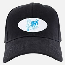 Elephant Swirls Blue Baseball Hat