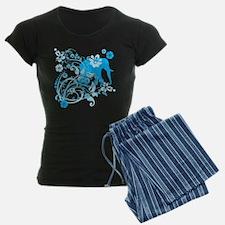 Elephant Swirls Blue Pajamas