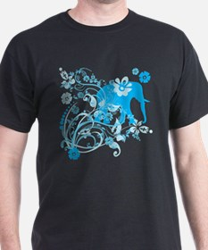 Elephant Swirls Blue T-Shirt