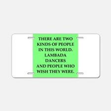 lambada Aluminum License Plate