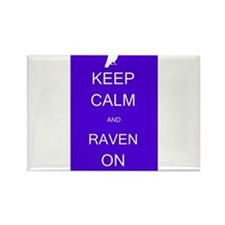 Keep Calm and Raven ON Rectangle Magnet