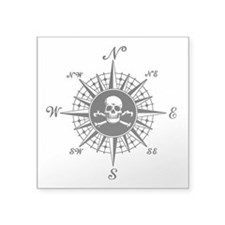 Compass Rose II Rectangle Sticker