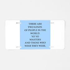 yo yo Aluminum License Plate