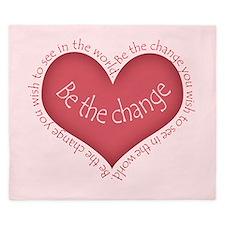 Be the Change King Duvet