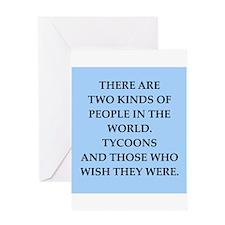 tycoon Greeting Card