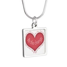 Be the Change Silver Square Necklace