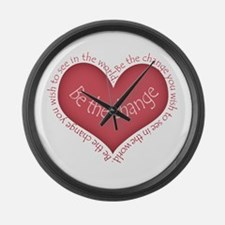 Be the Change Large Wall Clock