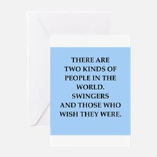 SWINGERS.png Greeting Card