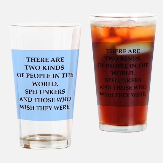 spelunker Drinking Glass