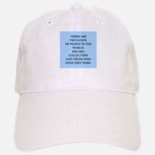 record collector Baseball Baseball Cap