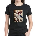1930s Campus Queen Shoes Women's Dark T-Shirt