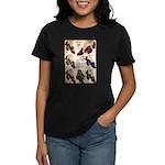 1930s Campus Queen Shoes Women's Dark T-Shirt