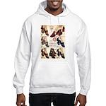 1930s Campus Queen Shoes Hooded Sweatshirt