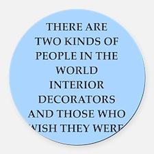interior decorators Round Car Magnet