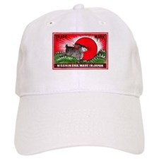 Antique Japanese Rabbit Matchbox Label Baseball Cap