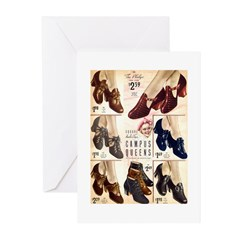 1930s Campus Queen Shoes Greeting Cards (Pk of 10)