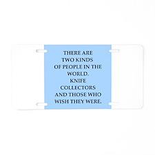 knife Aluminum License Plate