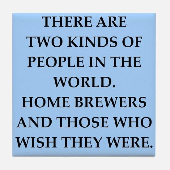 home brewer Tile Coaster