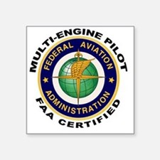 FAA Certified Multi-Engine Pilot Sticker