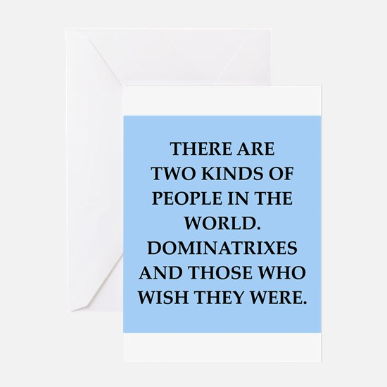dominatrix Greeting Card