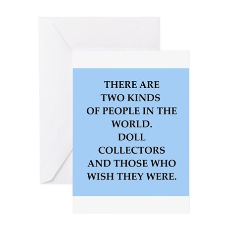 doll collector Greeting Card