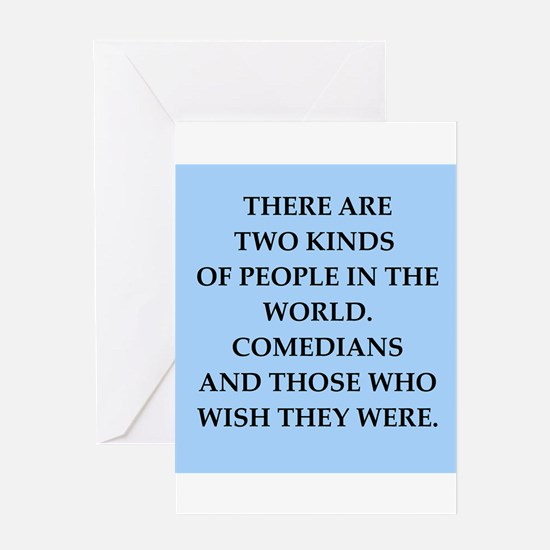 comedian Greeting Card