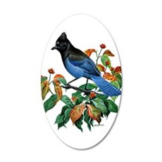 A Blue Stellers Jay in Dogwood Tree Wall Decal