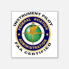 FAA Certified Instrument Pilot Sticker