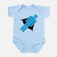 Super Hero Cape Silo Guy Infant Bodysuit