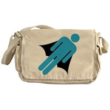 Super Hero Cape Silo Guy Messenger Bag