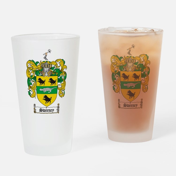 Cute Family crest Drinking Glass
