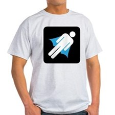 Super Hero Cape Silo Guy T-Shirt