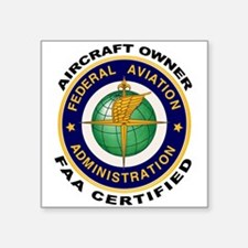 FAA Certified Aircraft Owner Sticker