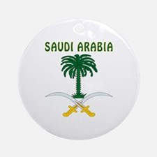 Saudi Arabia Coat of arms Ornament (Round)