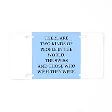 swiss Aluminum License Plate