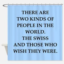 swiss Shower Curtain