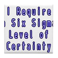 Six Sigma Tile Coaster