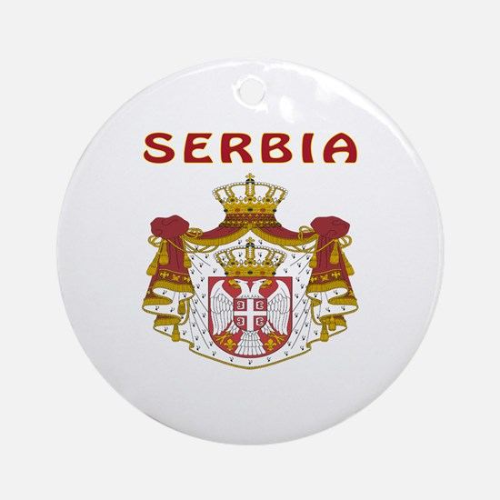 Serbia Coat of arms Ornament (Round)