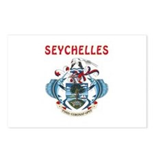 Seychelles Coat of arms Postcards (Package of 8)