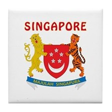 Singapore Coat of arms Tile Coaster